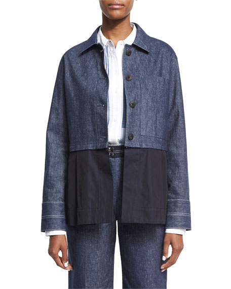 Elizabeth and James York Chambray Button-Front Jacket, Keating