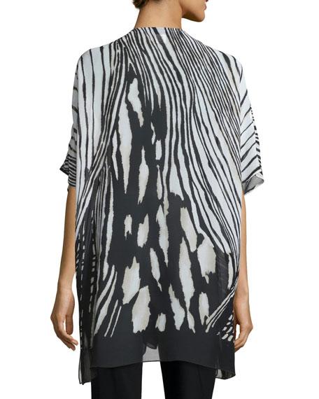 Petite Summer Safari Short-Sleeve Cardigan