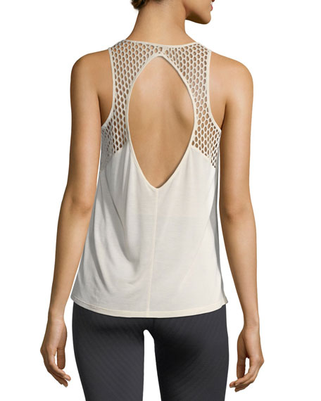 Cage Open-Back Performance Tank Top