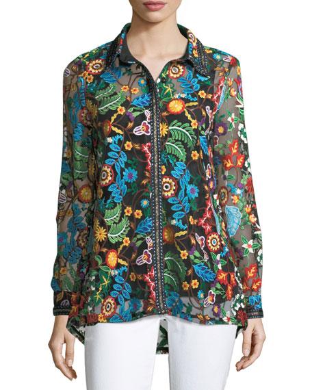 Berek Inez Embroidered Lace Easy Shirt