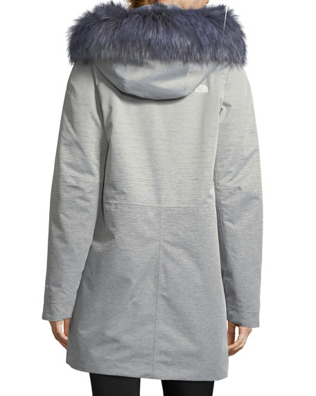 Zip-Front Hooded Gore-Tex® Parka Jacket w/ Faux-Fur