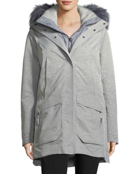 Zip-Front Hooded Gore-Tex® Parka Jacket w/ Faux-Fur