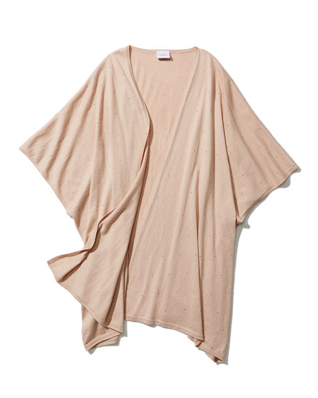 Superfine Crystal Cashmere Kimono Cardigan