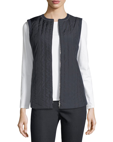 Lafayette 148 New York Bailey Alpine Outerwear Vest