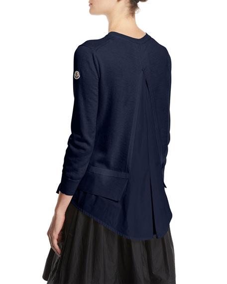 Maglia Flounce Hem Cardigan Sweater