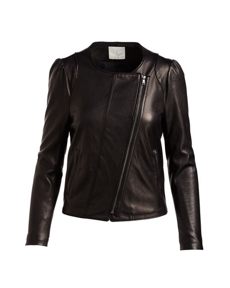Derica Motorcycle Jacket, Black