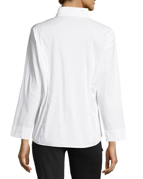 Plus Size Long-Sleeve Stretch-Cotton Shirt