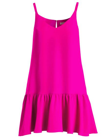 Conservatory Crepe Drop-Waist Flounce Dress