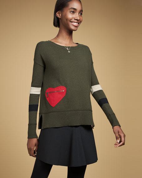 Lisa Todd Plus Size Heartthrob Cotton-Cashmere Sweater