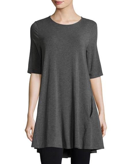 Eileen Fisher Half-Sleeve Jersey Tunic, Plus Size