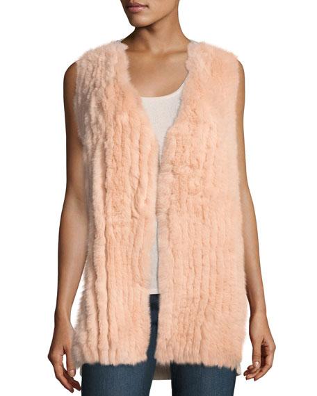 Neiman Marcus Cashmere Collection Luxury Fox Fur Vest