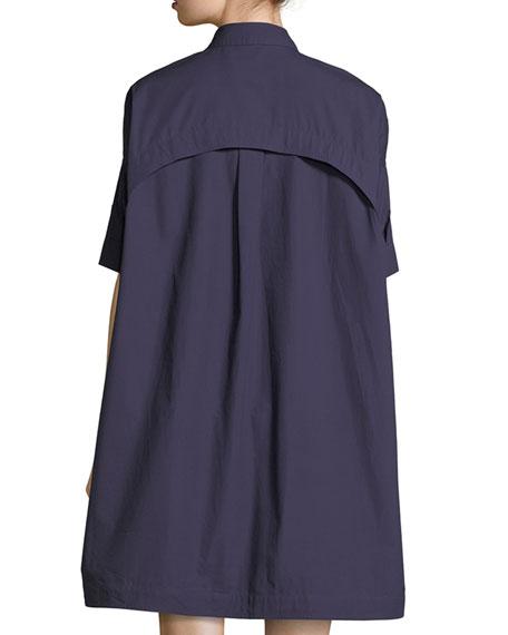 Elliptical Oversized Poplin Tunic Dress