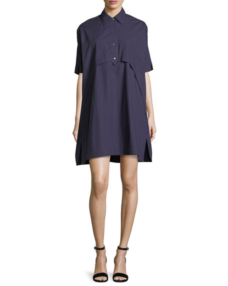 Opening Ceremony Elliptical Oversized Poplin Tunic Dress