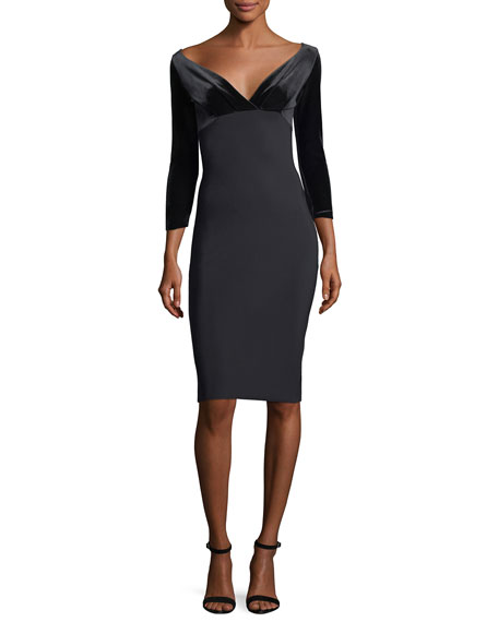 Chiara Boni La Petite Robe Ruth Off-the-ShoulderCocktail Dress