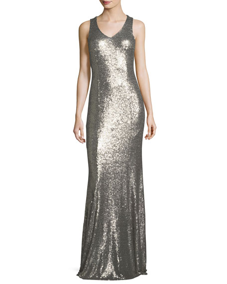 JAY X JAYGODFREY Jemma V-Neck Sleeveless Evening Gown