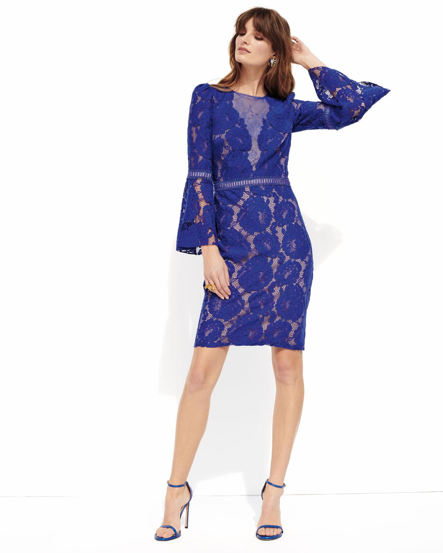 Famoso Blue Cocktail Dresses With Sleeves Bandera - Vestido de Novia ...