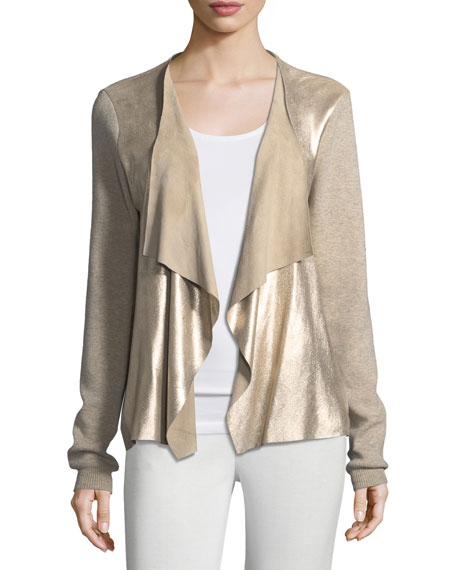 Elie Tahari Richardson Metallic-Knit Sweater
