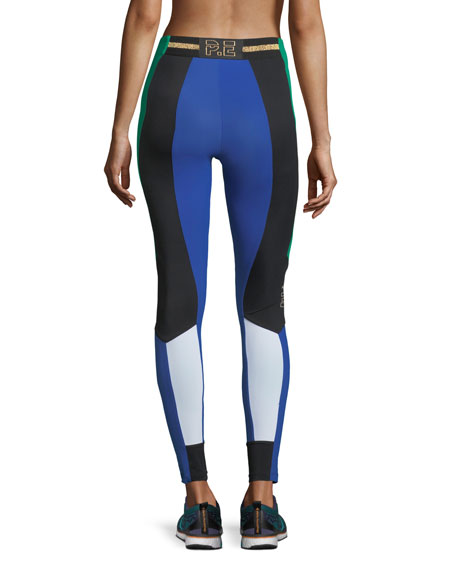 Riseball High-Rise Colorblocked Performance Leggings