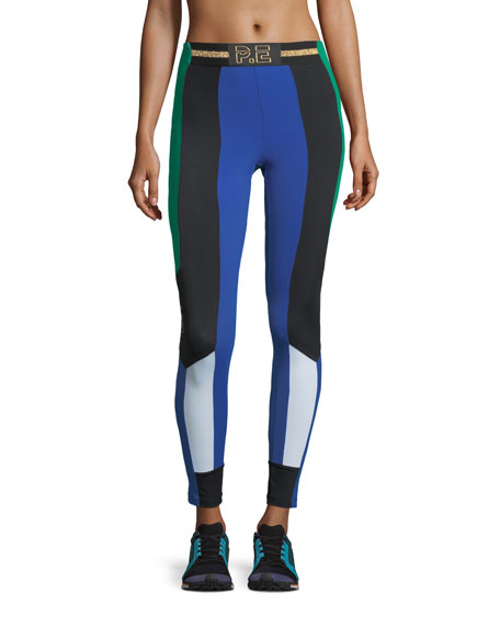 PE Nation Riseball High-Rise Colorblocked Performance Leggings