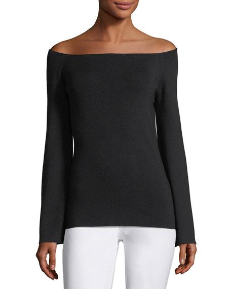 Lafayette 148 New York Ballerina-Neck Italian Silk Sweater