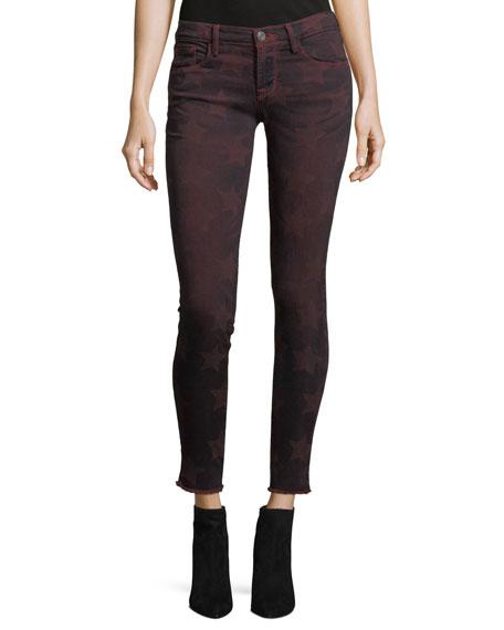 Etienne Marcel Roos Mid-Rise Skinny-Leg Star-Graphic Pants