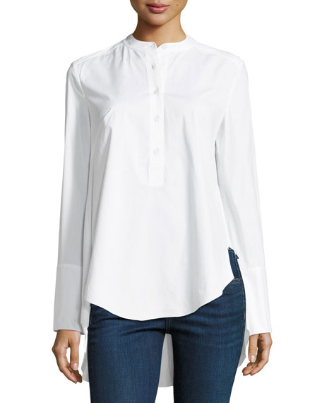 Hardy Shirt with Exaggerated Shirttail