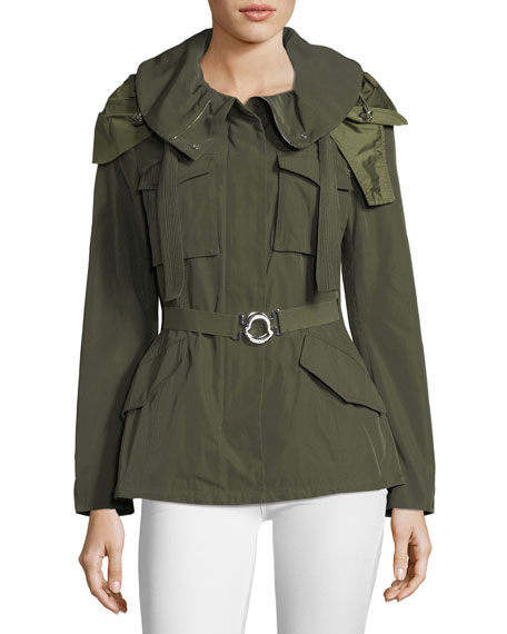 Moncler Sodalite Safari Belted Jacket