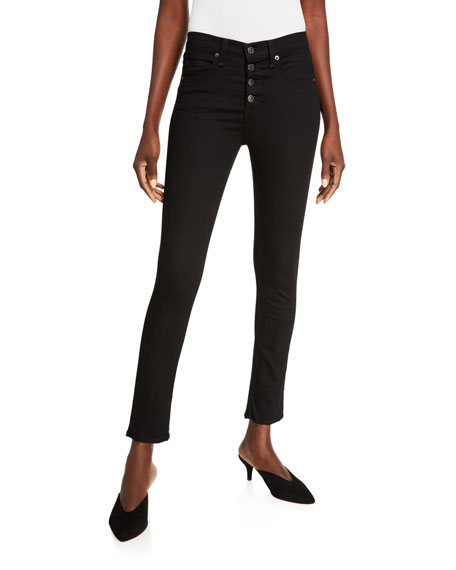 Image 1 of 3: Veronica Beard Jeans Debbie High-Rise Skinny Jeans