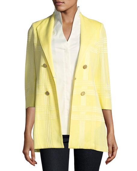 Misook Petite 3/4-Sleeve Long Statement Jacket