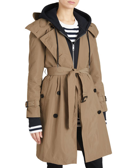 Burberry Amberford Packaway Rain Trench Coat