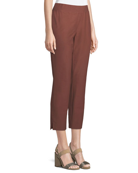 Washable Stretch-Crepe Slim Pants
