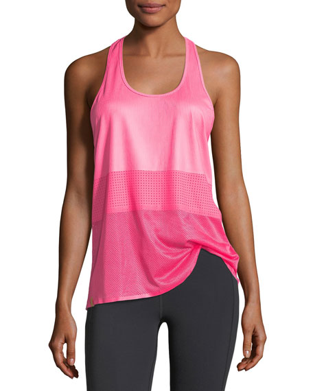 Monreal London Scoop-Neck Racerback Mesh Jersey Performance Tank