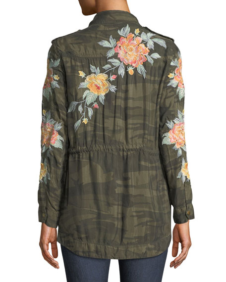 Image 2 of 5: Brenna Embroidered Utility Jacket