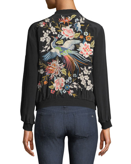 Image 3 of 5: Brenna Embroidered Utility Jacket