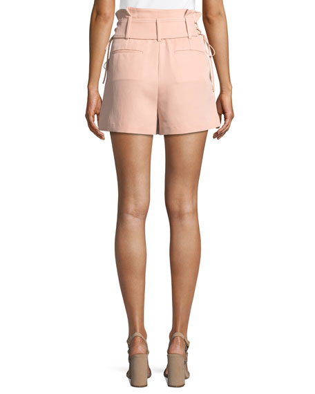 Lalora High-Waist Lace-Up Shorts