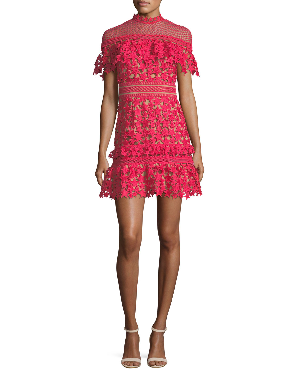 Red Cocktail Dress   Neiman Marcus