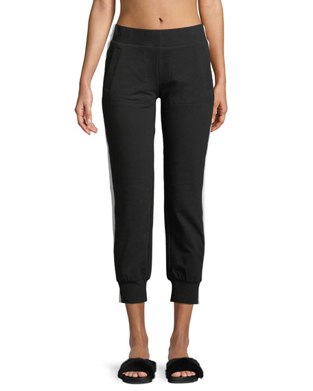 Side-Stripe Cropped Jogger Pants