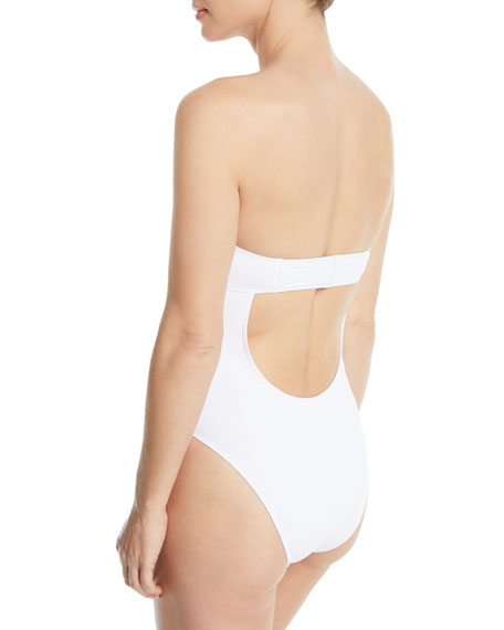 CUSHNIE Lana Strapless One-Piece Swimsuit