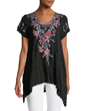 ca4989c182f Johnny Was Plus Size Hinga Georgette Embroidered Tunic