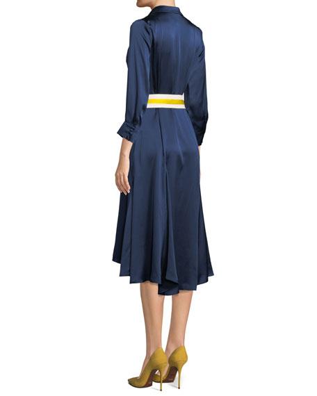 Turner Belted Silk Midi Dress
