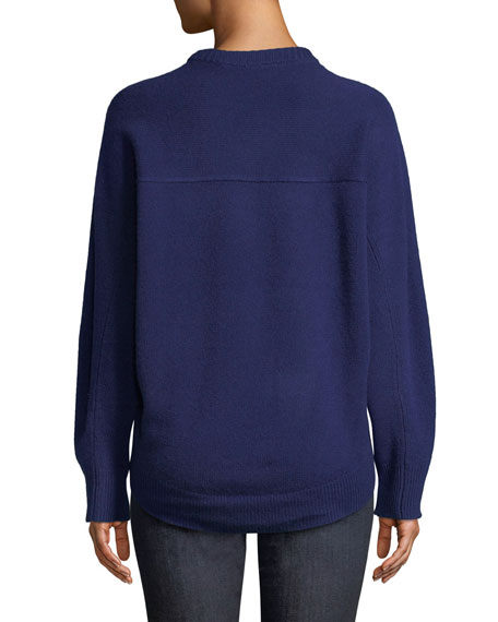 Theory Crewneck Cashmere Pullover Sweatshirt