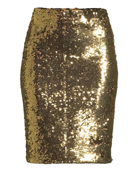 Ramos Sequin Pencil Skirt