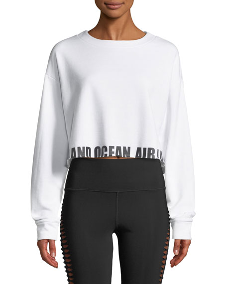Alo Yoga Air Land Ocean Crewneck Pullover Sweatshirt