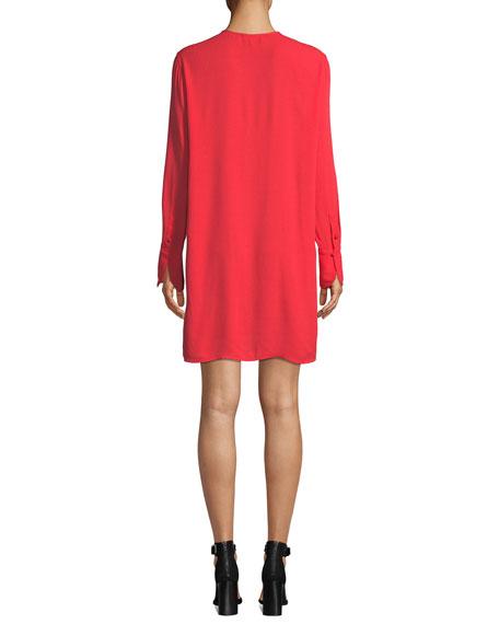 Equipment Bonnie Crewneck Long-Sleeve Mini Dress