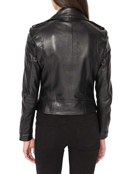 LaMarque Donna Classic Leather Biker Jacket