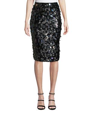 508be0fb1e Parker Glenda Sequined Pencil Skirt