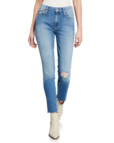 MOTHER The Looker Ankle Skinny Frayed Jeans