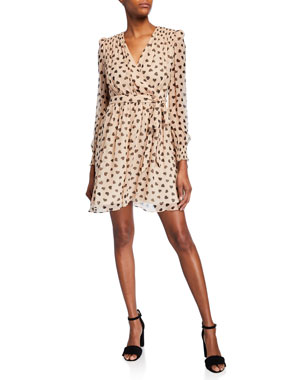 990ae2415 kate spade new york heartbeat silk mini dress
