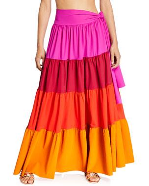 24104661f7d Chiara Boni La Petite Robe Vittoria Convertible Colorblock Maxi Skirt Dress