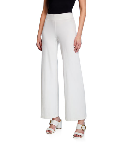 Petite Washable Stretch Crepe Modern Straight-Leg Pants